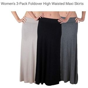 Set of 3 Maxi Skirts/Maternity